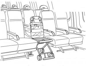 Bordrollstuhl im Flugzeug