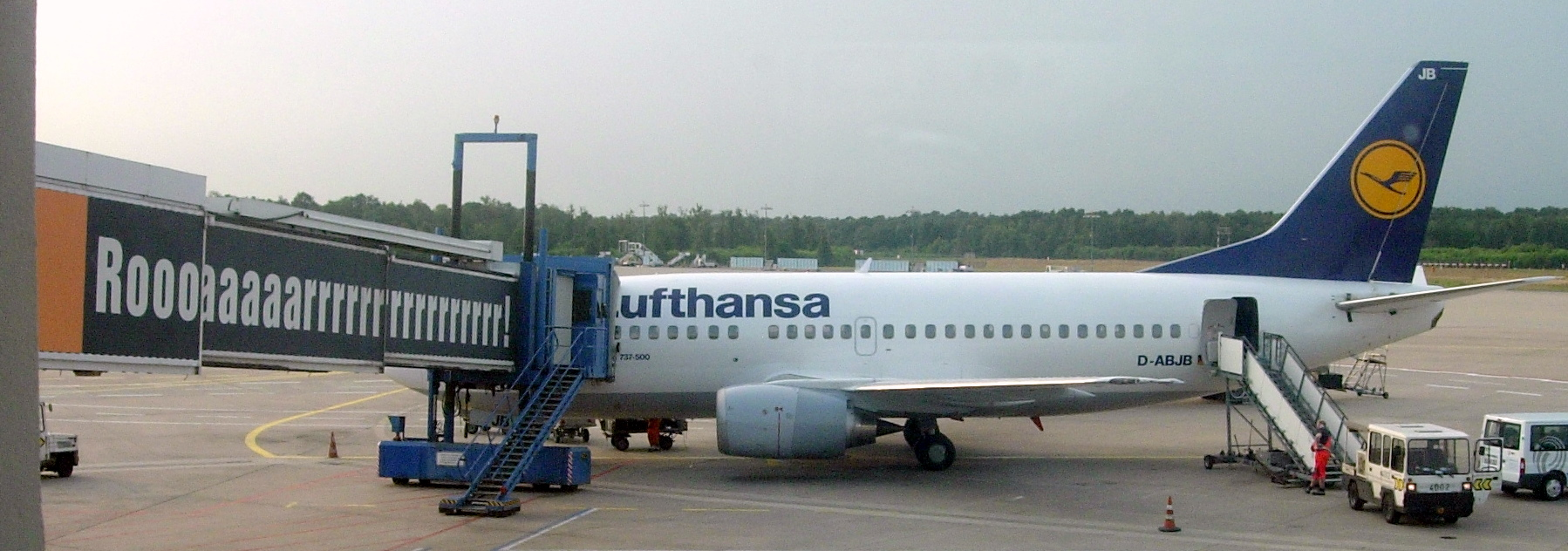 Airbus im Hangar von Lufthansa Technik