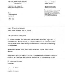 Petition Parlamentarische Prüfung